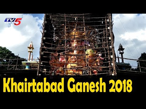 Final Touch Up's of Khairatabad Ganesh Idol   #KhairtabadGanesh2018   TV5 News