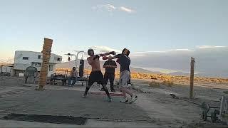 Live Underground Boxing Championship Fight! Angel Vs. Josh