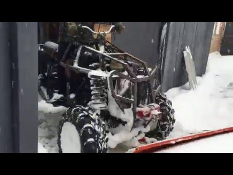 Home made ATV 1.9 TD AAZ the blade for cleaning snow 2016 #2