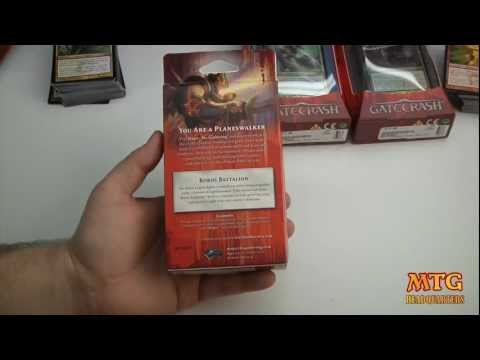 Boros Battalion  Gatecrash Magic The Gathering Intro Pack Opening & Review