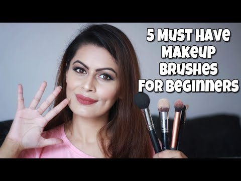 5 MUST HAVE Makeup Brushes For Beginners | Makeup Basics | Kavya K