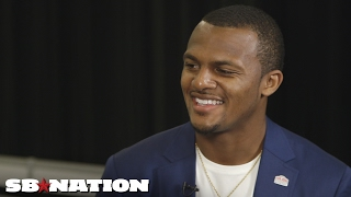 Deshaun Watson on draft preparation, fashion, and being compared to Jordan | Super Bowl 2017