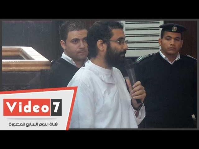 """بالفيديو .. علاء عبد الفتاح : """"الموبايل اللى فى الأحراز ملك لزوجتى"""""""