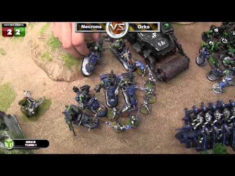 Necrons vs Orks Warhammer 40k Battle Report - Jay Knight Batrep Ep 58