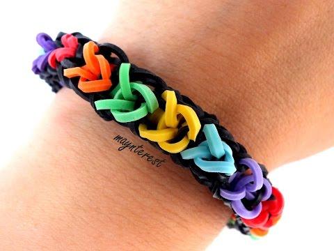 Pulsera de gomitas Cadena SIN TELAR-CON TENEDORES   Chain bracelet NO LOOM
