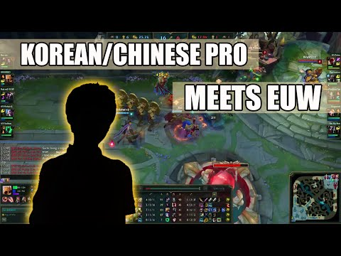 Ekkebiso (KR pro mid, probably Rookie) witnesses the strength of EUW SoloQ trash talk game :)