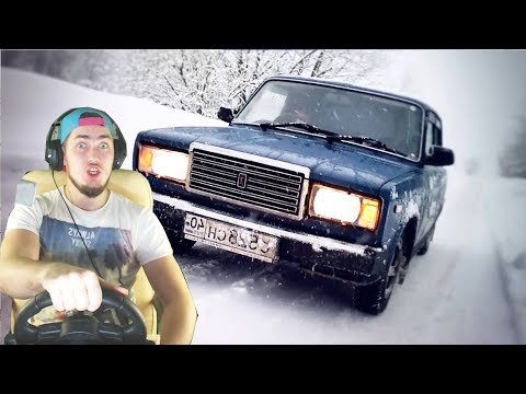 ЗИМНИЙ ДРИФТ на ВАЗ 2107 - City Car Driving с РУЛЕМ