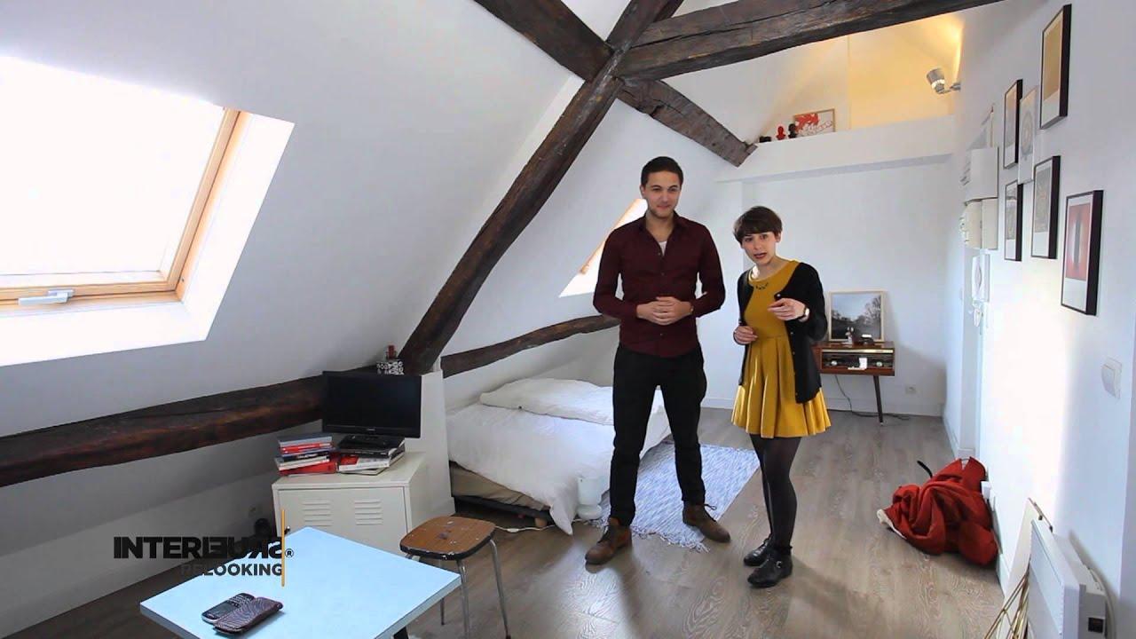 Relooking un studio vintage sous les toits youtube - Appartement sous les toits ...