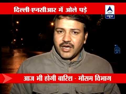 Rain and hailstorm lash Delhi; temperature dips