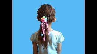 ✔Красивая и легкая прическа для девочек на средние волосы