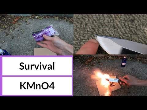 Survival uses for Potassium Permanganate (KMnO4)