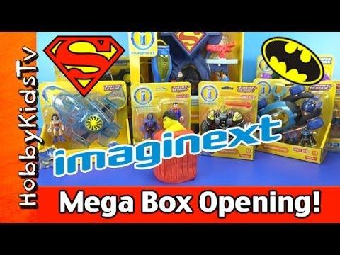 Imaginext Superman Batman MEGA Box Opening Play-Doh Surprise Egg HobbyKidsTV