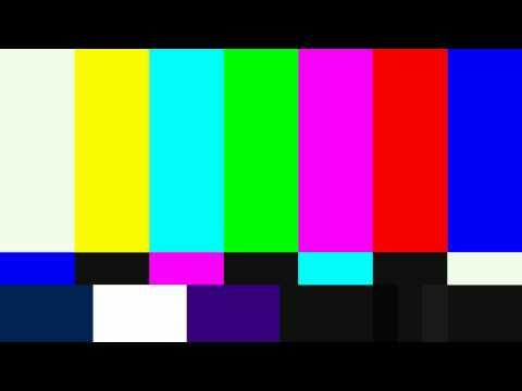 SMPTE Television Color Test Calibration Bars and 1Khz Sine Wave For 1 Hour