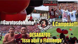 """Filme do Título! FLA 6x4 COR! Garotos do Ninho campeões em cima dos """"Vice de Novo"""" do Corinthians!"""