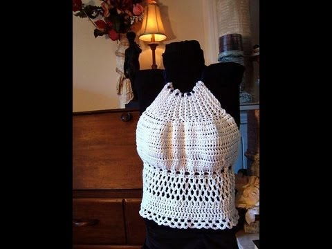 How to crochet a summer halter top, women, toddlers, teen, preteen, free pattern