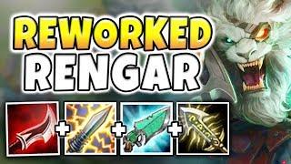 NEW RENGAR REWORK IS UNBELIEVABLY OP! INSTANT REWORKED RENGAR ONE-SHOTS! (BROKEN)- League of Legends