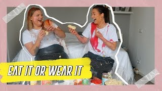EAT IT OR WEAR IT CHALLENGE met ISADEE JANSEN || NINA WARINK