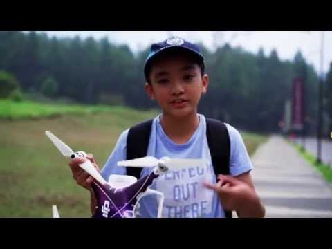 Aerial video tutorial, a journey  and a travel vlog from A Young Boy