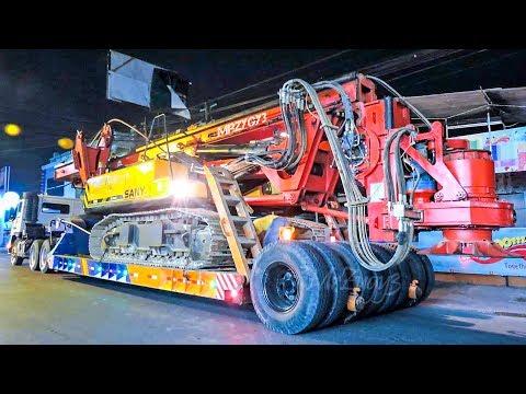BIG Truck Schwertransport Moving Rig By Dolly Semi Trailer Heavy Trucking