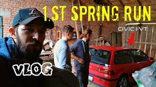 First Spring Run in Honda Civic iVT | VLOG