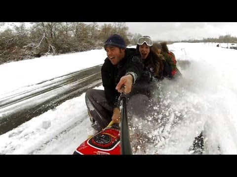 Extreme Road Tubing - 30 MPH!!!