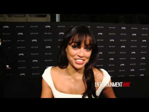 Michelle Rodriguez Interview 2014 LACMA Art + Film Gala Honoring Barbara Kruger, Quentin Tarantino