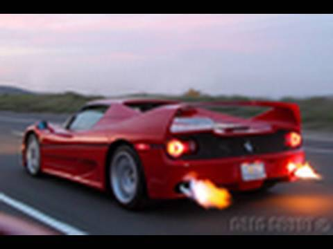 Ferrari F50 Shooting Flames Preview Video Youtube