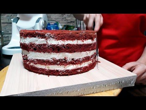 Торт как сделать красный крем для торта 496
