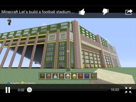minecraft  lets build  football stadium  ending   doovi