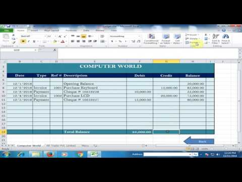 Make Supplier or Vendor Ledger in Microsoft Excel : Excel Expert Tricks