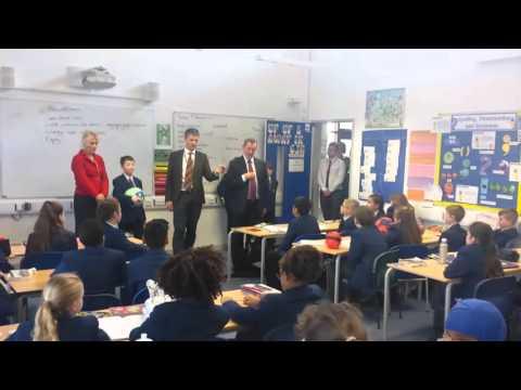 David Blunkett visits Northampton school