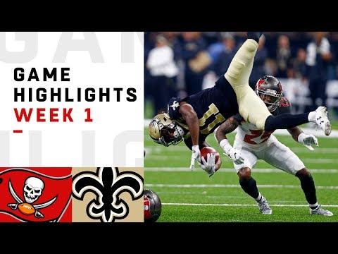Buccaneers vs. Saints Week 1 Highlights | NFL 2018