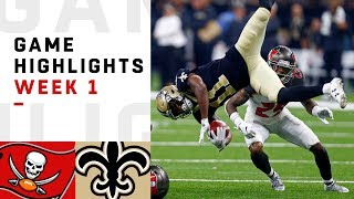 Buccaneers vs. Saints Week 1 Highlights | NFL 2018