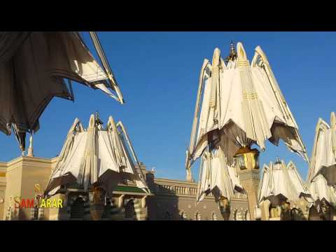 Masjid Al Nabavi   Closing Umbrellas   Madina Al Munawwara, Saudi Arabia