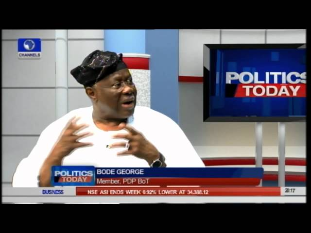 Lai Mohammed's Statement On Handover Unnecessary - Bode George -- 10/05/15 Part 2