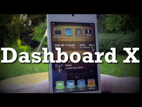 DashBoard X - Mettre des widgets sur le HomeScreen (iPhone, iPod touch, iPad)