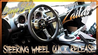 350Z NRG Quick Release and Sparco Steering Wheel Install W/ Horn & Cruise Control