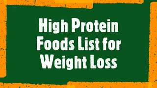 WEIGHT LOSS - 15 HIGH PROTEIN FOODS LIST ( 2020 ) | WEIGHT LOSS FOODS DURING QUARANTINE | DIET |