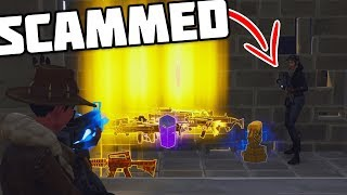 *MUST WATCH* SCAMMER GETS SCAMMED FOR ALL HIS GUNS! Getting A Subscriber HIS GUNS BACK + MORE!!