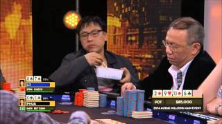Two Asian Businessmen Clash in $1 MILLION DOLLAR pot (Real Money) [Funny]