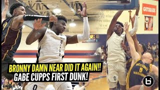 Bronny James Damn Near CATCHES OOP On Defender!! Gabe Cupps FIRST DUNK!!