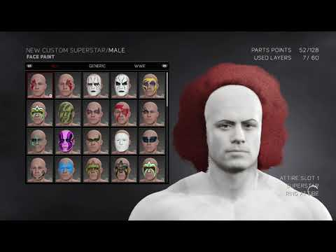 How to make Pennywise (IT) WWE 2K17