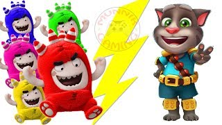 Learn Colors Oddbods Cartoon Talking Tom | Learn Colors Compilation for Baby Toddlers and Children