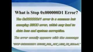 Stop 0x000000d1 Error - DRIVER_IRQL_NOT_LESS_OR_EQUAL