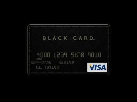The Visa Black Card - World Most Prestigious Credit Card