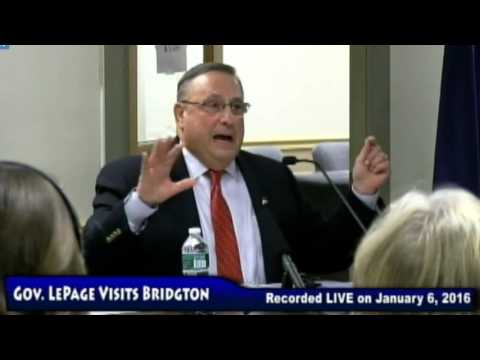 Gov. Paul LePage, Jan. 6, 2016