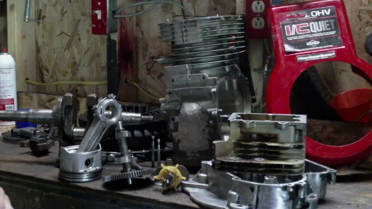 Briggs and Stratton 14.5 HP OHV Reassembly. Then i stripped the ...