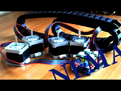 Обзор шаговиков NEMA 17 - гибкий кабелеукладчик - ЧПУ станок (Часть 4)