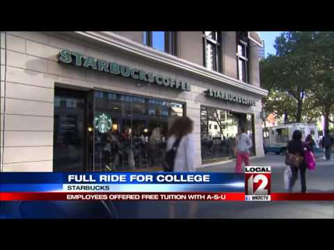 Starbucks to give workers full ride for college