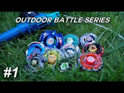~outdoor Beyblade Battle Series #1: Grass! (viewer Requested) video